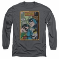 Batman adult long-sleeved shirt Detective #380 charcoal