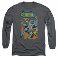 Batman adult long-sleeved shirt Detective #487 charcoal