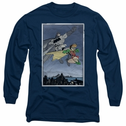 Batman adult long-sleeved shirt DKR Duo navy