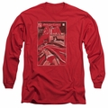 Batman adult long-sleeved shirt DOA Cover red