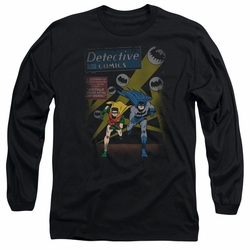 Batman adult long-sleeved shirt Dynamic Duo black