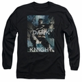 Batman adult long-sleeved shirt Fighting The Storm black