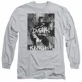 Batman adult long-sleeved shirt Fighting The Storm silver