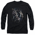 Batman adult long-sleeved shirt Gargoyles black