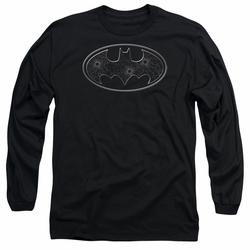 Batman adult long-sleeved shirt Glass Hole Logo black