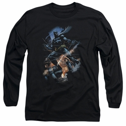 Batman adult long-sleeved shirt Gotham Knight black