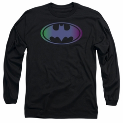 Batman adult long-sleeved shirt Gradient Bat Logo black