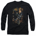 Batman adult long-sleeved shirt Grapple Fire black
