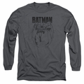 Batman adult long-sleeved shirt Grey Noise charcoal