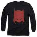 Batman adult long-sleeved shirt Hacked & Scratched black