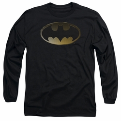 Batman adult long-sleeved shirt Halftone Bat black