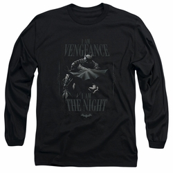 Batman adult long-sleeved shirt I Am black