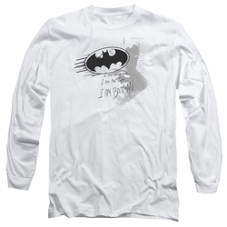 Batman adult long-sleeved shirt I Am Vengeance white