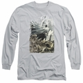 Batman adult long-sleeved shirt Instill Fear silver