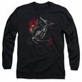 Batman adult long-sleeved shirt Kick Swing black