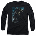 Batman adult long-sleeved shirt Knight Falls In Gotham black