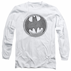Batman adult long-sleeved shirt Knight Knockout white