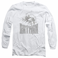 Batman adult long-sleeved shirt Knight Sketch white