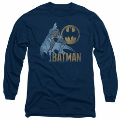 Batman adult long-sleeved shirt Knight Watch navy