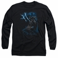Batman adult long-sleeved shirt Lightning Strikes black