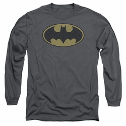 Batman adult long-sleeved shirt Little Logos charcoal