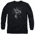 Batman adult long-sleeved shirt Materialized black