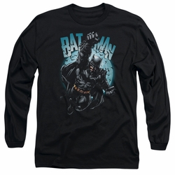 Batman adult long-sleeved shirt Moon Knight black