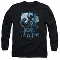 Batman adult long-sleeved shirt Moonlight Bat black