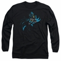 Batman adult long-sleeved shirt Neon Batman black