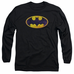 Batman adult long-sleeved shirt Neon Distress Logo black