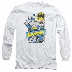 Batman adult long-sleeved shirt Out Of The Pages white