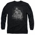 Batman adult long-sleeved shirt Pencilled Rain black