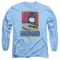 Batman adult long-sleeved shirt Primary carolina blue