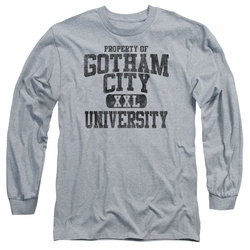 Batman adult long-sleeved shirt Property Of GCU heather