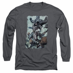 Batman adult long-sleeved shirt Punch charcoal