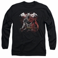 Batman adult long-sleeved shirt Raging Bat black