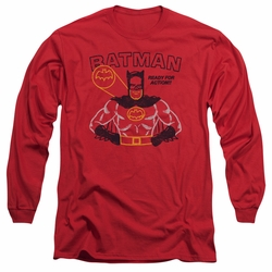 Batman adult long-sleeved shirt Ready For Action red