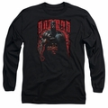 Batman adult long-sleeved shirt Red Knight black