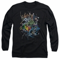 Batman adult long-sleeved shirt Saints And Psychos black