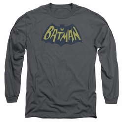 Batman adult long-sleeved shirt Show Bat Logo charcoal