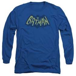Batman adult long-sleeved shirt Show Bat Logo royal