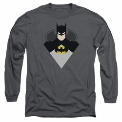 Batman adult long-sleeved shirt Simple Bat charcoal
