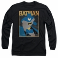 Batman adult long-sleeved shirt Simple Poster black