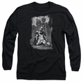 Batman adult long-sleeved shirt Sketchy Shadows black