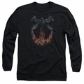 Batman adult long-sleeved shirt Smoke & Fire black