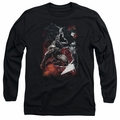 Batman adult long-sleeved shirt Sparks Leap black