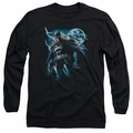Batman adult long-sleeved shirt Stormy Knight black