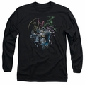 Batman adult long-sleeved shirt Surrounded black