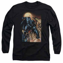 Batman adult long-sleeved shirt The Dark Knight #1 black