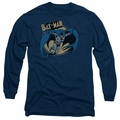 Batman adult long-sleeved shirt Through The Night navy